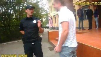Задержание пьяного чиновника в Ужгороде. Видео