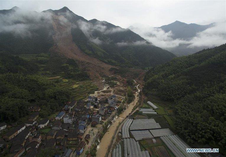 Мощный оползень в Китае