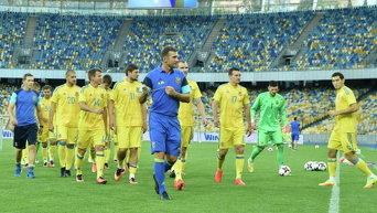 Сборная Украины по футболу и главный тренер Андрей Шевченко
