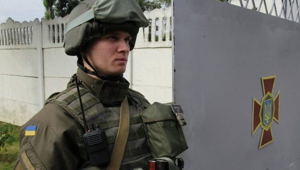 Военнослужащие Нацгвардии в Днепре