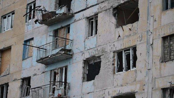 Авдеевка после обстрела. Архивное фото