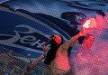 Болельщики Зенита во время матча 9-го тура чемпионата России по футболу среди клубов Премьер-лиги между ФК Зенит (Санкт-Петербург) и ФК Спартак (Москва)