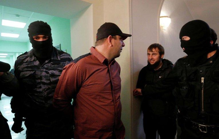 Темерлан Эскерханов во время судебного заседания по делу об убийстве Бориса Немцова