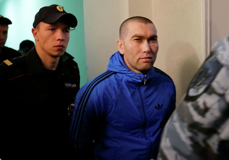 Анзор Губашев во время судебного заседания по делу об убийстве Бориса Немцова