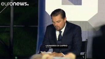 Обама и ди Каприо призвали снизить температуру на планете. Видео