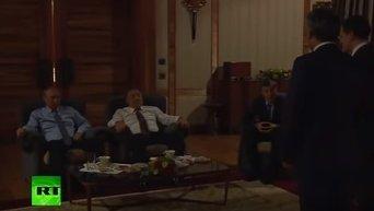 Путин и Назарбаев посмотрели фильм 28 панфиловцев. Видео