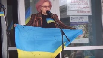 В Станице Луганской прошел митинг отвода ВСУ. Видео