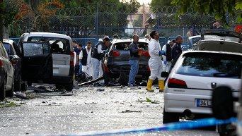 На месте теракта у полицейского участка в Стамбуле
