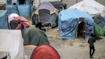 Лагерь мигрантов во французском Кале