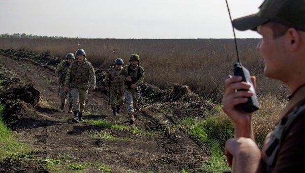 Военные ВСУ в зоне АТО