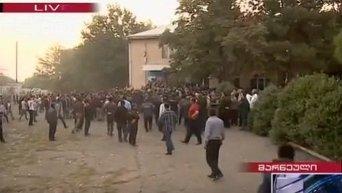 Столкновения на парламентских выборах в Грузии