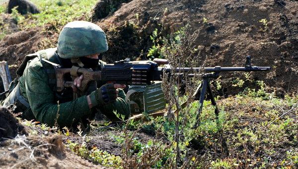 Боец подразделений Донецкой народной республики