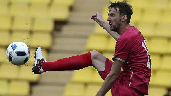 Игрок сборной Сербии Неманья Милунович. Архивное фото