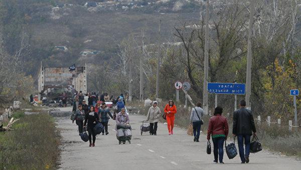 КПВВ Золотое в Луганской области