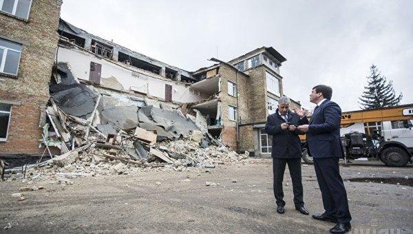 Временные каникулы объявили детям изшколы вВасилькове после обвала стены
