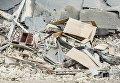 Последствия обрушения школы в Василькове