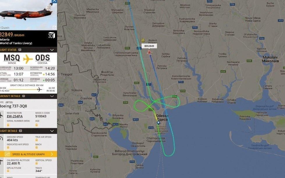 Самолет «Белавиа» несмог сесть вОдессе ивернулся вМинск