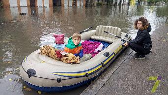 По одесским улицам на лодке