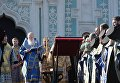Предстоятель УПЦ КП Святейший Патриарх Филарет во время молебна /