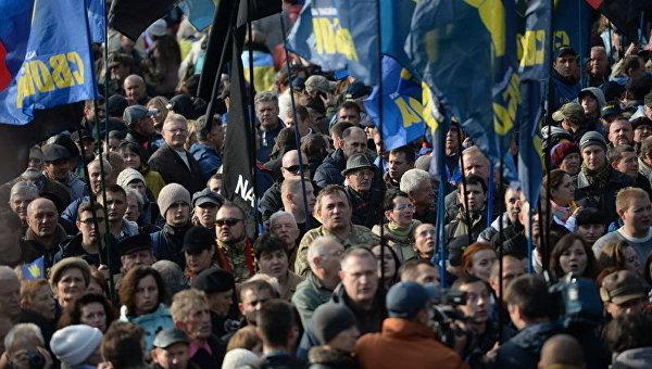 ВКиеве прошел марш вчесть годовщины создания УПА