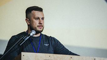 Андрей Билецкий на съезде Национального корпуса