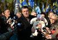Митинг по случаю годовщины УПА, организованный Свободой и ОУН. Олег Тягнибок пришел с внучкой
