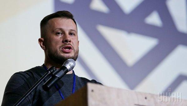 Торжественный съезд политической партии Национальный корпус в Киеве. Глава партии Андрей Билецкий