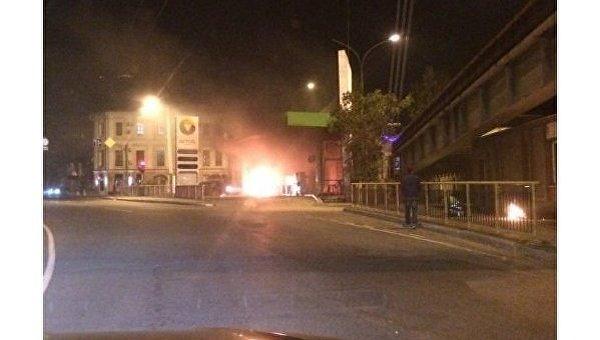 В Одессе машина врезалась в автозаправку и взорвалась