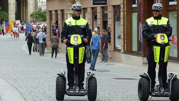Полицейские города Карловы Вары в Чехии