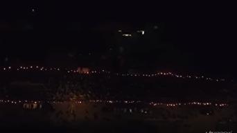 Марш нации в Киеве с высоты птичьего полета. Видео