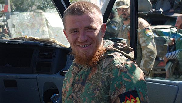 Ополченец Донецкой народной республики (ДНР) с позывным Моторола. Архивное фото