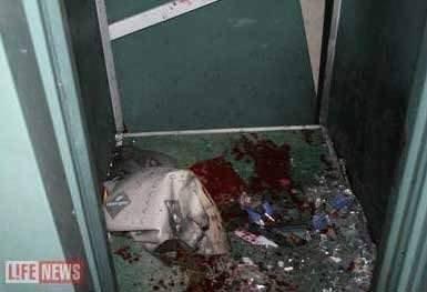 Лифт, в котором был убит Арсен Павлов