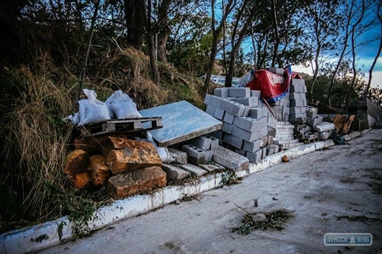 Трасса здоровья после шторма в Одессе