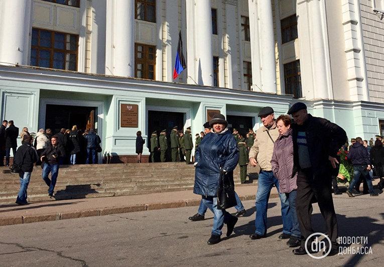Церемония прощания с Моторолой в Донецке