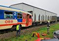 Электричка в Австрии столкнулась с пустыми товарными вагонами