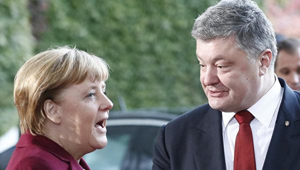 Встреча Ангелы Меркель и Петра Порошенко Берлине. Архивное фото