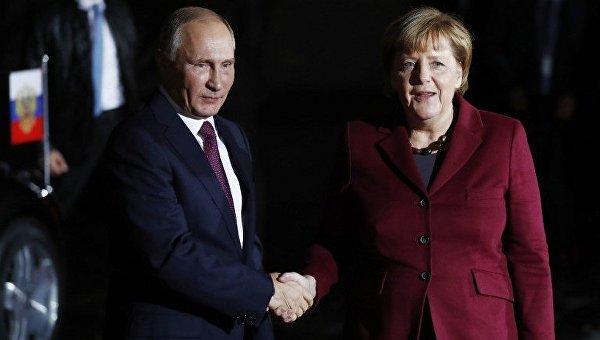 Меркель призвала В.Путина воздействовать на собственных боевиков наДонбассе