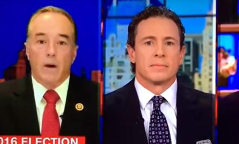"""В эфире CNN возникли """"помехи"""", когда конгрессмен начал критиковать Клинтон"""