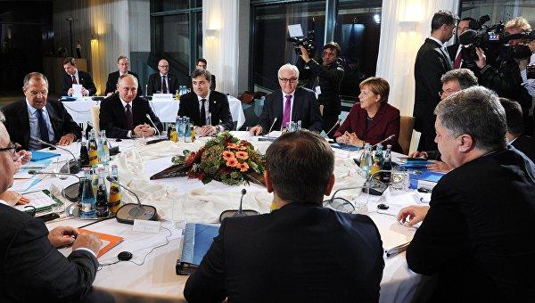 Встреча лидеров стран нормандской четверки. Архивное фото
