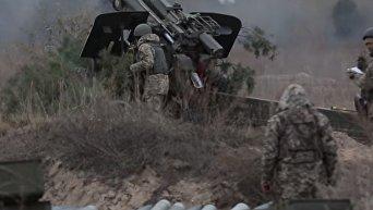 Учения Рубеж-2016: артиллерия ВСУ уничтожала опорные пункты противника. Видео