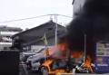 Появилось видео с места взрыва в Японии