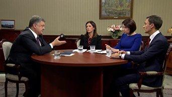 Интервью Петра Порошенко украинским телеканалам 23 октября