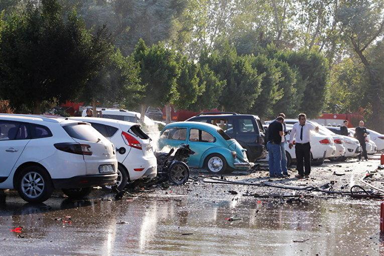 Последствия взрыва в Анталии