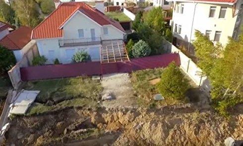Оползень в Черноморске Одесской области. Видео