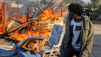 Снос лагеря беженцев во французском Кале