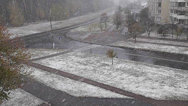 Снег в Славутиче