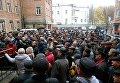 Пикет экс-милиционеров в Ровно