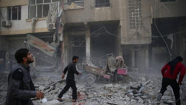 Сирийский Дамаск после обстрела. Архивное фото