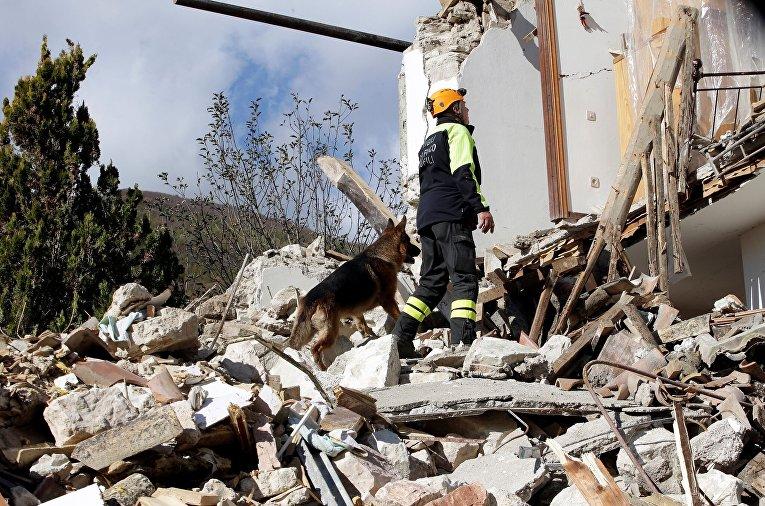 Вцентральной части Италии произошли землетрясения