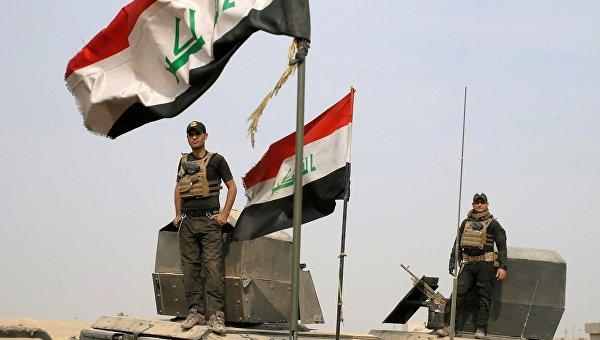 Спецподразделения иракской армии возле Мосула